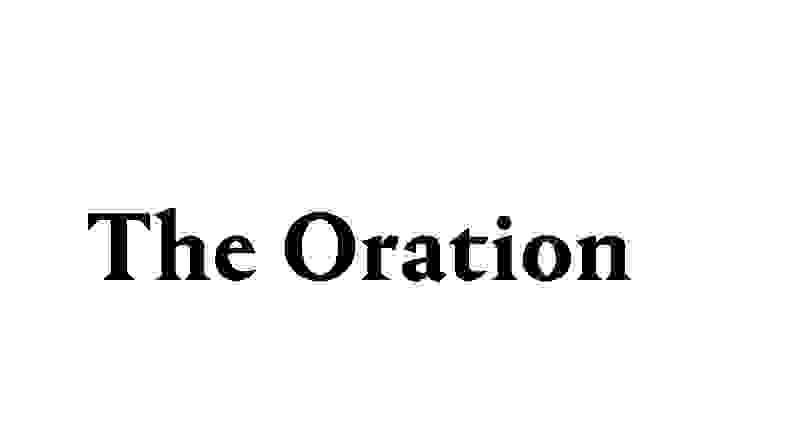 The Oration